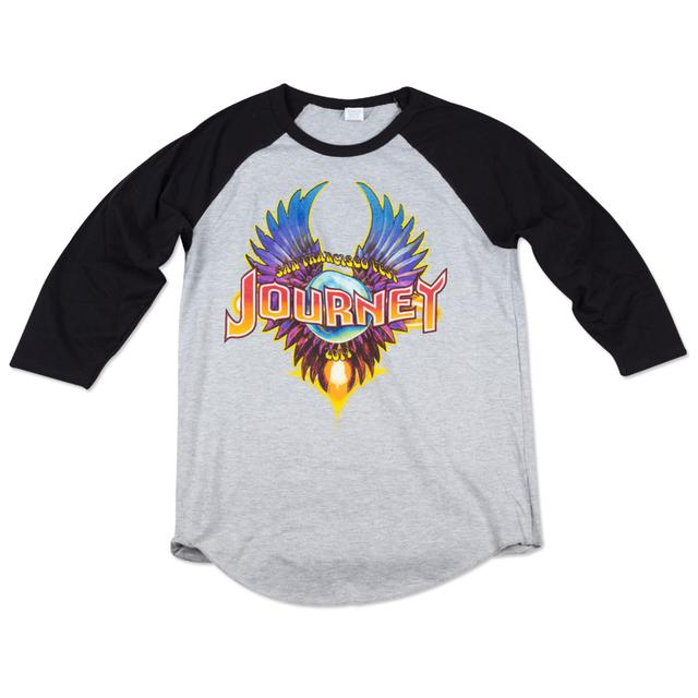 Journey 2014 Tour San Francisco Wings Logo Baseball Jersey
