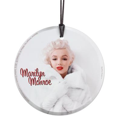 Marilyn Monroe White Fur Hanging Glass Print Ornament