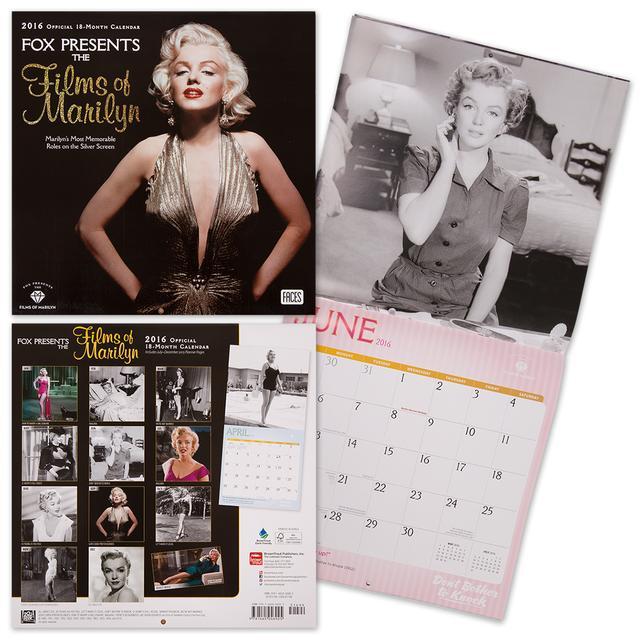 Marilyn Monroe The Films of Marilyn 2016 Square 12x12 Calendar