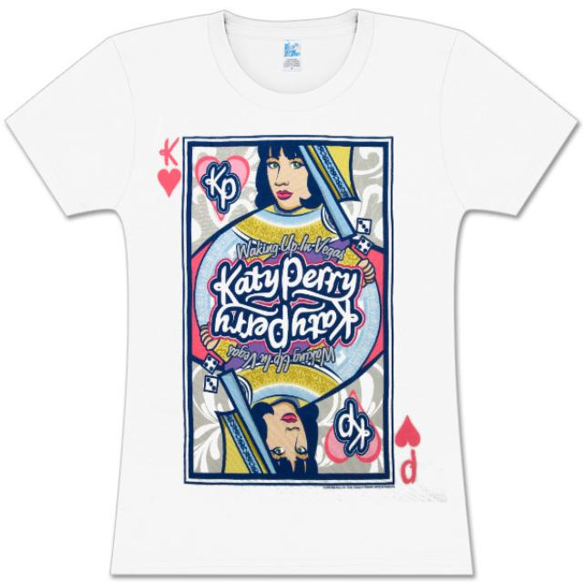 Katy Perry Queen of Hearts Girls Fitted T-Shirt
