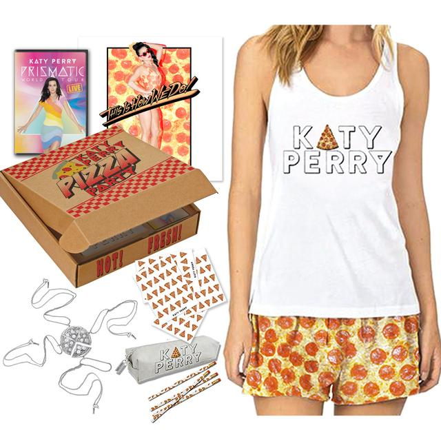 Katy Perry Signed Special Edition X-Large Pizza Box Movie Kit