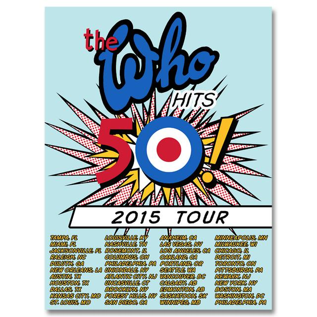 The Who 2015 Tour Poster