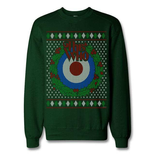 The Who Target Wreath Holiday Sweater