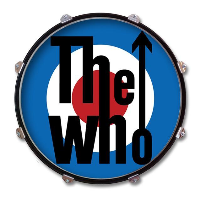 The Who Target Logo Drum Display