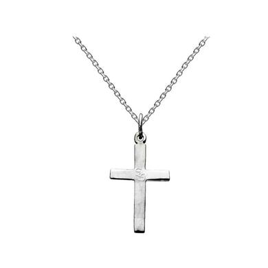 Sam Smith SS Worn Silver Cross Necklace