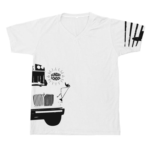 Mysteryland USA Sunday School White V-Neck Tee