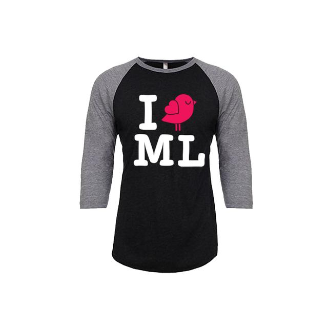 Mysteryland USA I Bird ML Black & Grey Raglan