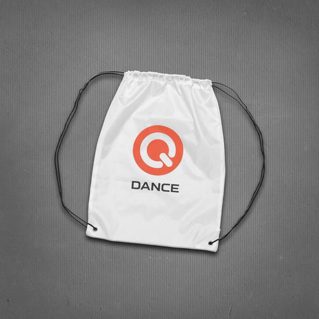 Q-dance Drawstring Bag (White)