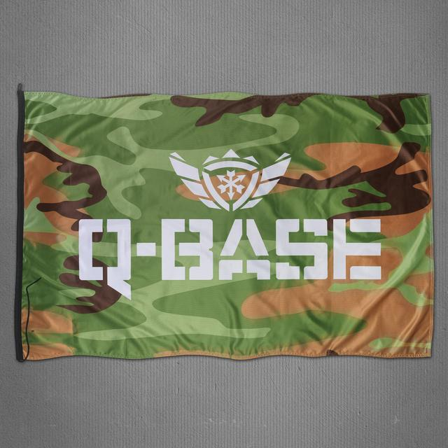 Q-Dance Q-BASE Camo Flag