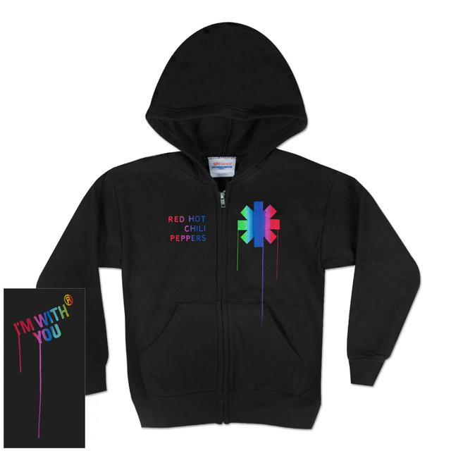 Red Hot Chili Peppers Paint Drip Juniors Zip Hoodie
