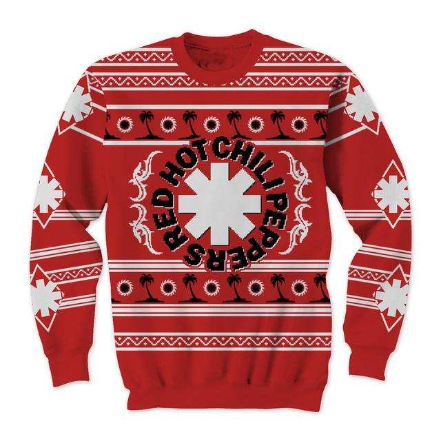 Red Hot Chili Peppers Palm Trees Ugly Xmas Sweater