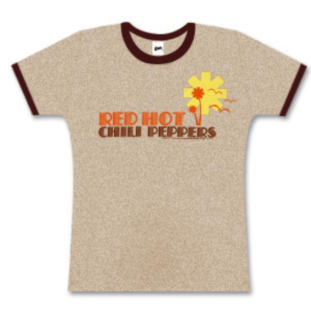 Red Hot Chili Peppers - Retro Sun Tan w/ Brown Ringer T-Shirt
