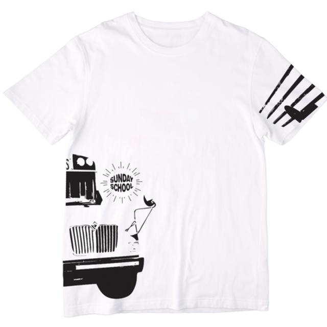 Electric Zoo Festival 2014 Sunday School Bus Tee (White)
