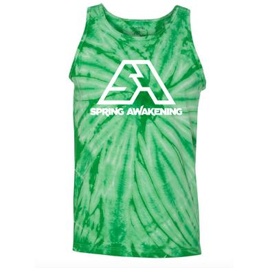 Spring Awakening Music Festival Tye Dye Green Tank