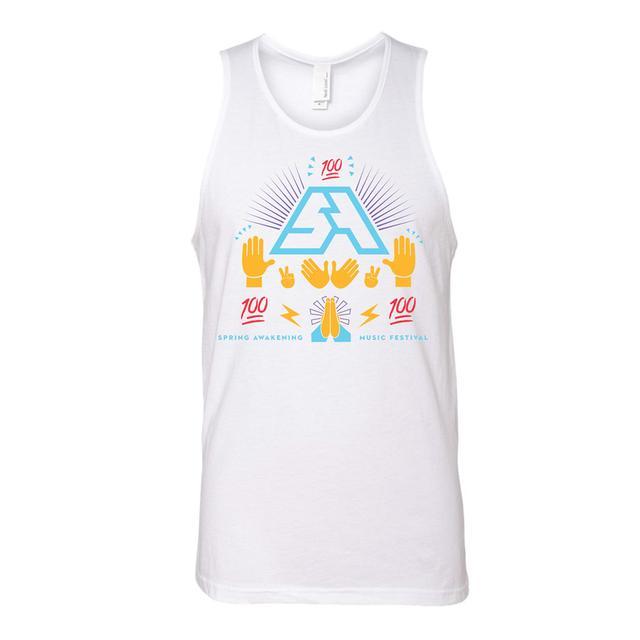 Spring Awakening Music Festival Emoji Tank (White)