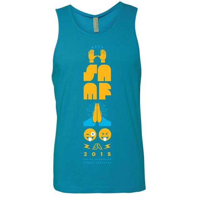 Spring Awakening Music Festival Emoji Tank (Turquoise)