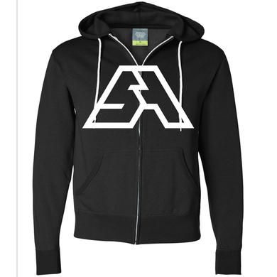Spring Awakening Music Festival SA Logo Zip Up Hoodie (Black/White)