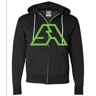 Spring Awakening Music Festival SA Logo Zip Up Hoodie (Black/Neon Green)