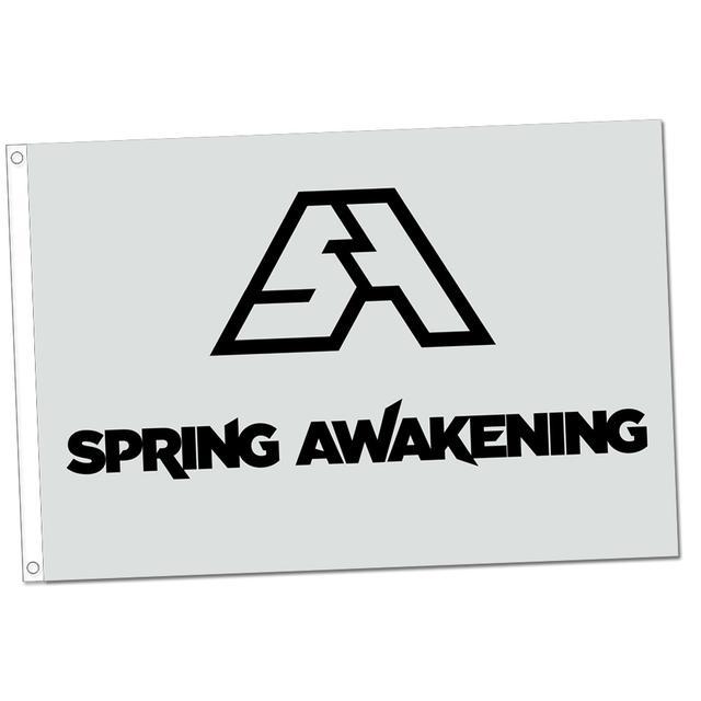 Spring Awakening Music Festival SAMF Flag (White)