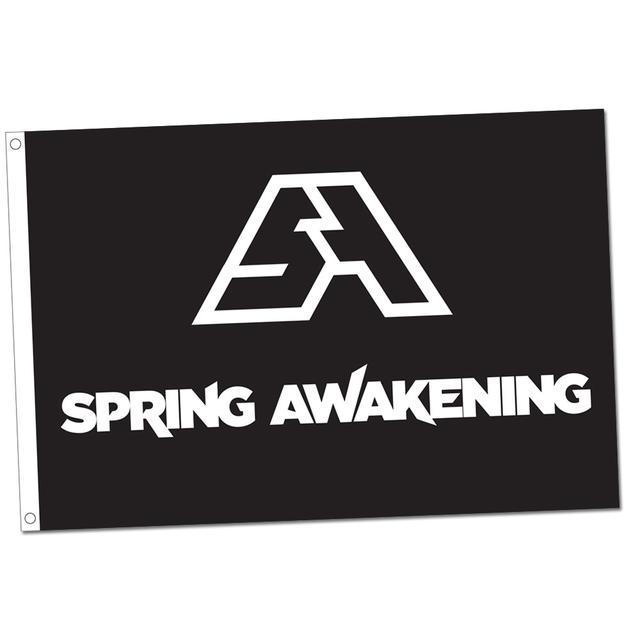 Spring Awakening Music Festival SAMF Flag (Black)