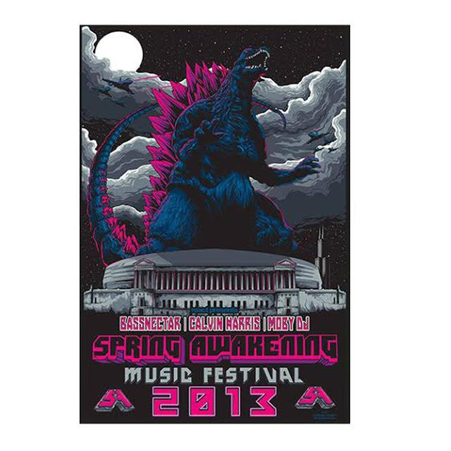 Spring Awakening Music Festival SA 2013 Collectors Edition Poster
