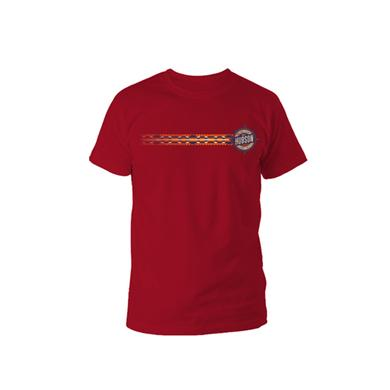 The Hudson Project Navajo Stripe Tee (Cardinal)