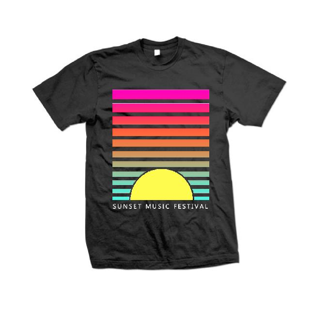 SMF Tampa Sunset Lines Black Tee