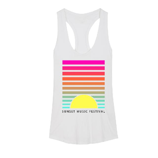SMF Tampa Sunset Lines Women's Racerback Tank Top