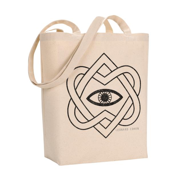 Leonard Cohen Black Eye Tote Bag
