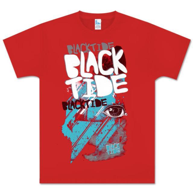 Black Tide Red Evil Eye Tee