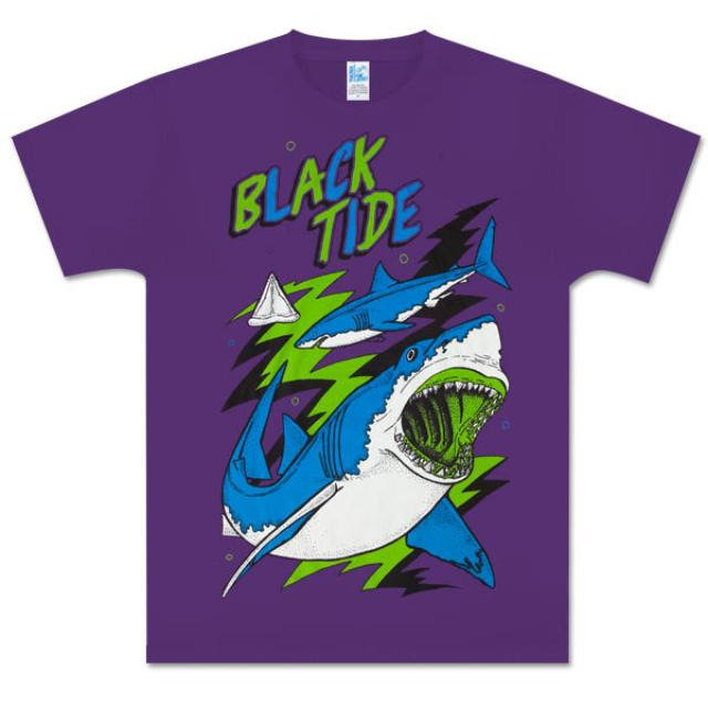 Black Tide Purple Shark Attack Tee