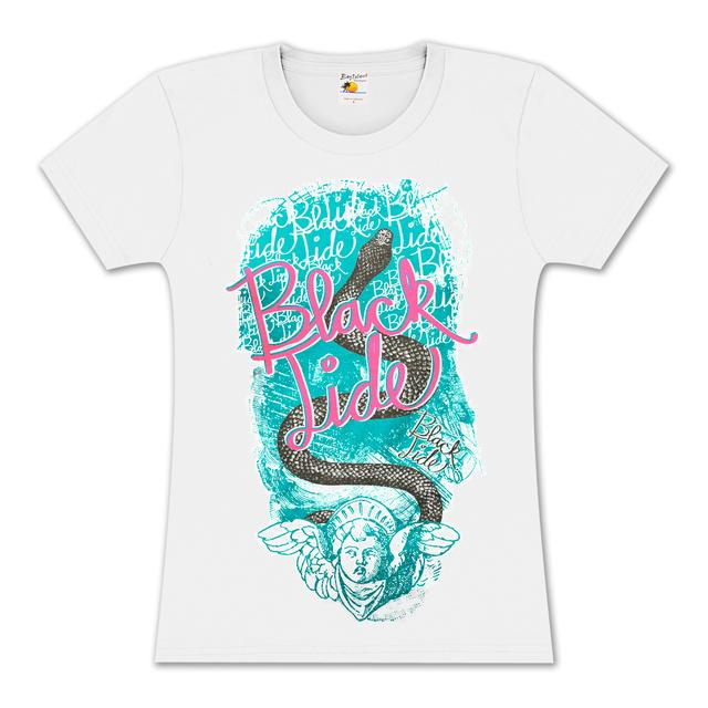 Black Tide Snake Girlie T-Shirt