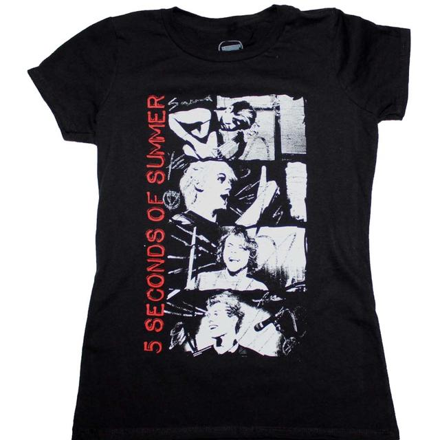 5 Seconds of Summer T Shirt | 5 Seconds of Summer Stacked Photo Junior's T-Shirt