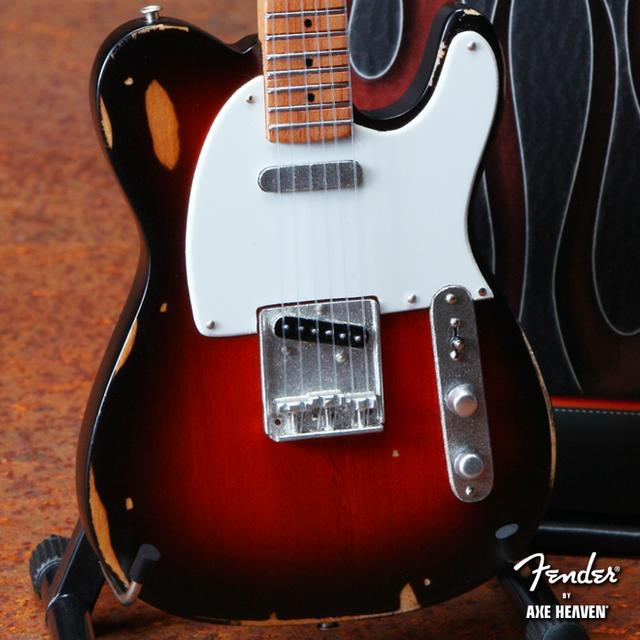 Fender Telecaster Miniature Guitar - Road Worn Sunburst Finish