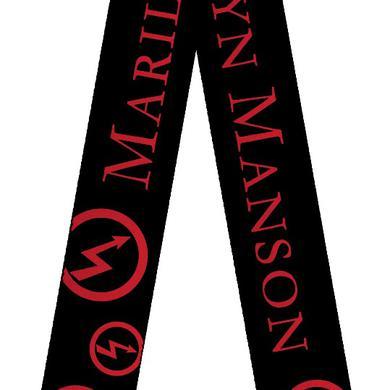 Marilyn Manson Bolt Logo Guitar Strap
