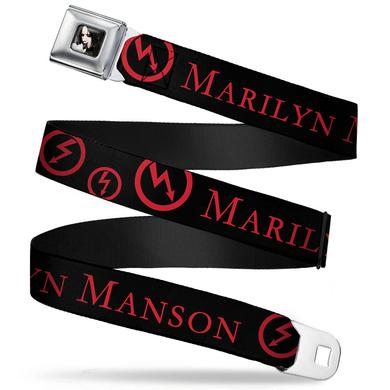 "Marilyn Manson Clutching Collar Seatbelt Belt (24-38"")"