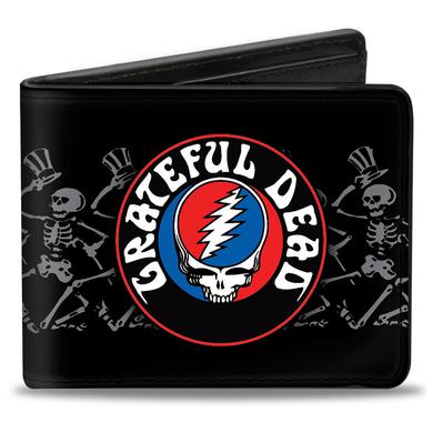 Grateful Dead Steal your Face Skeleton Bifold Wallet