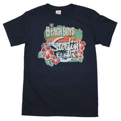 Beach Boys T Shirt   Beach Boys Surfing USA Tropical T-Shirt