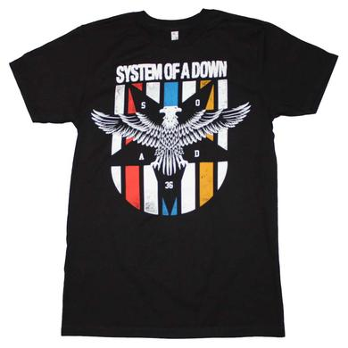 System of a Down T Shirt | System of a Down Eagle Colors T-Shirt