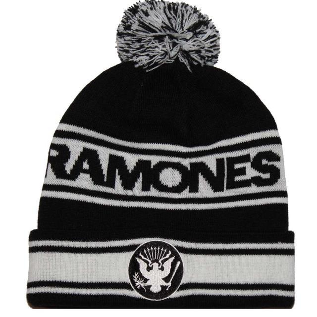 Ramones Eagle Pom Beanie Hat