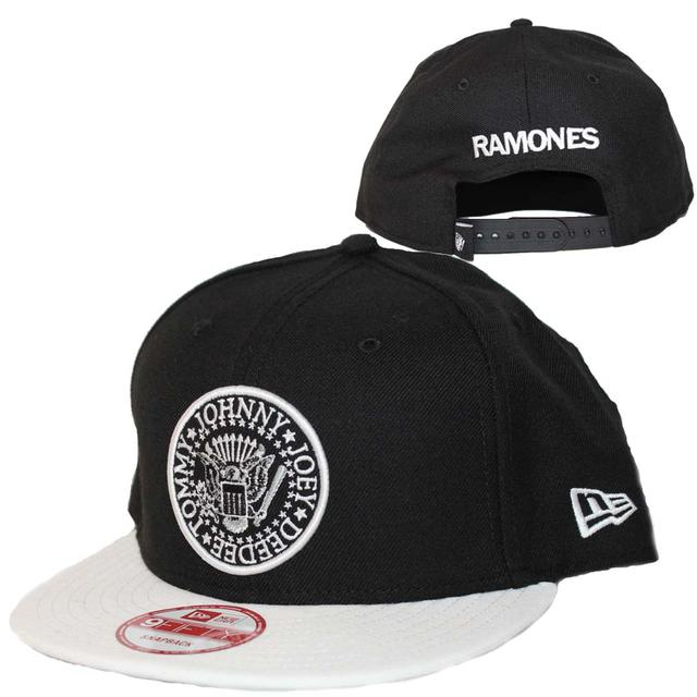 Ramones Seal Black and White New Era Hat