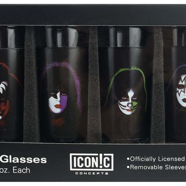 KISS Faces Shot Glass Set (4 Pack)