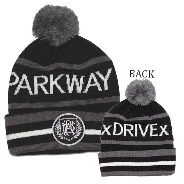Parkway Drive Gray Black Pom Beanie Hat