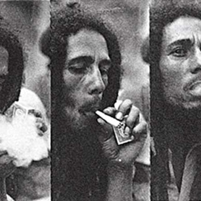 Bob Marley Triple Smoke Fabric Poster