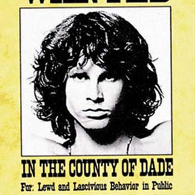 The Doors Wanted Poster Fabric Poster