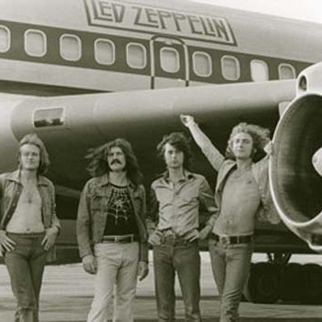 Led Zeppelin Airplane Fabric Poster