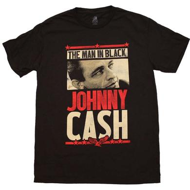 Johnny Cash T Shirt | Johnny Cash Man in Black T-Shirt