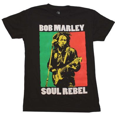 Bob Marley T Shirt | Bob Marley Soul Rebel Color Block T-Shirt
