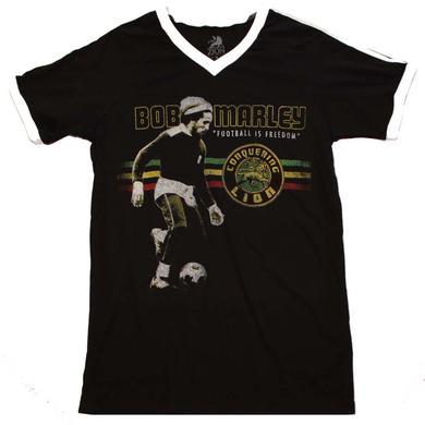 Bob Marley T Shirt | Bob Marley Football is Freedom V-Neck Jersey
