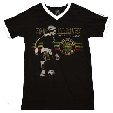 Bob Marley T Shirt | Bob Marley Football is Freedom V-Neck Jersey
